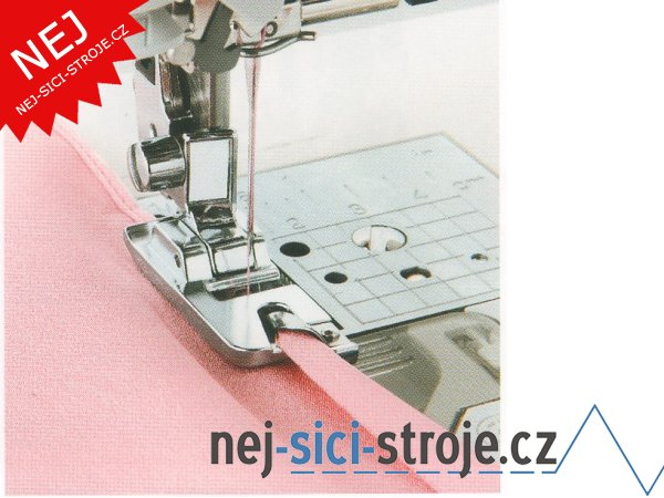 Příslušenství - obrubovací patka pro šití úzkého lemu (5mm)
