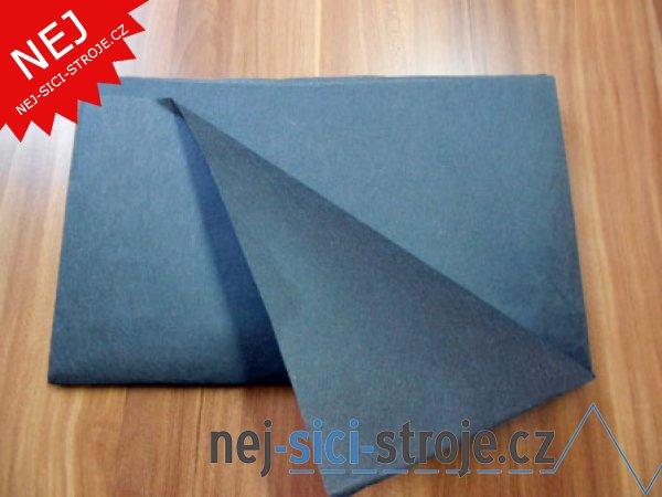 Podkladový trhací materiál černý 1x1m