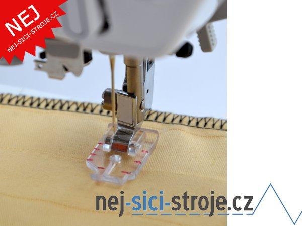 Příslušenství Janome - průhledná patka pro patchwork 1/4 palce (kyvný CB chapač)