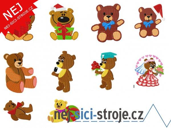 Vyšívací vzory - Medvídci