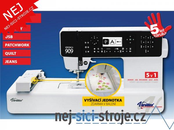Šicí a vyšívací stroj Veronica 909 + DÁREK