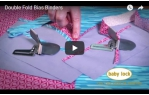 video návod ukázka Příslušenství Babylock - Aplikátor šikmého proužku na dvojito 36 mm (Desire, BLCS)