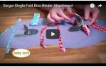 video návod ukázka Příslušenství Babylock - Aplikátor šikmého proužku na jednoducho 28 mm (Desire, BLCS)