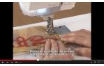 video návod ukázka Příslušenství Brother - kedrovací patka