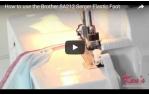 video návod ukázka Příslušenství Brother - overlock, patka pro všívání gumy