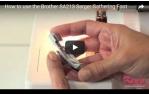 video návod ukázka Příslušenství Brother - overlock - řasící patka