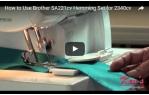 video návod ukázka Příslušenství Brother - coverlock - soubor zakladačů pro obruby