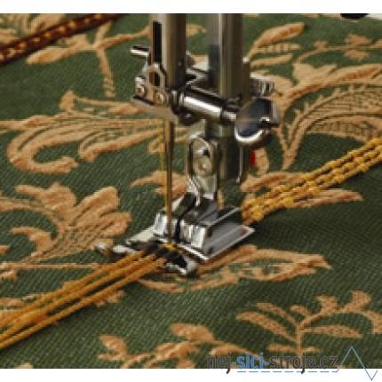 Příslušenství Janome - patka pro našívání ozdobných šňůrek (rotační chapač)