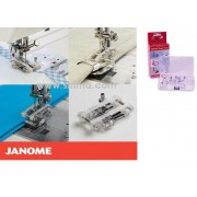 Příslušenství Janome - patka na zahýbání + sestava zakladačů (rotační chapač)