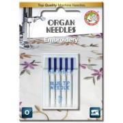 Jehly pro šicí stroje ORGAN - VYŠÍVACÍ - BLUE TIP č.75