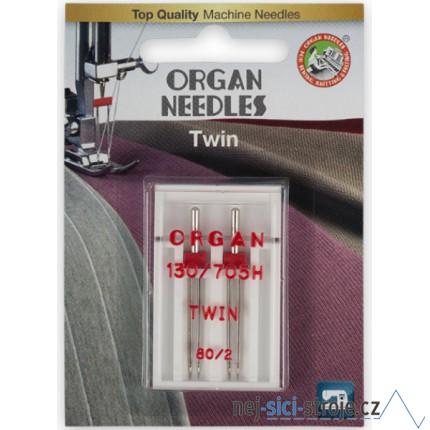 Dvojjehla ORGAN - rozpich 2 mm - balení 2 ks