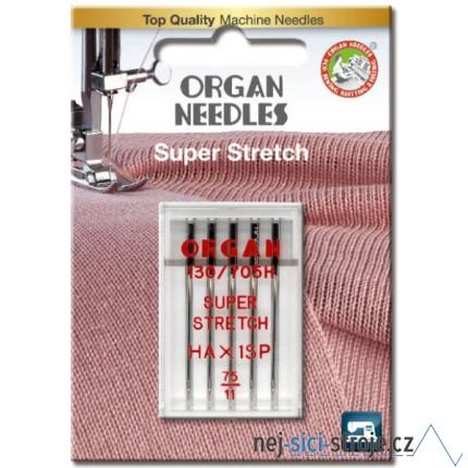 Jehly pro šicí stroje ORGAN stretch č.75