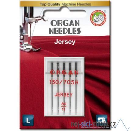 Jehly pro šicí stroje ORGAN - JERSEY BALL POINT č.80