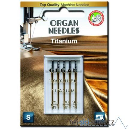 Jehly pro šicí stroje ORGAN - TITANIUM