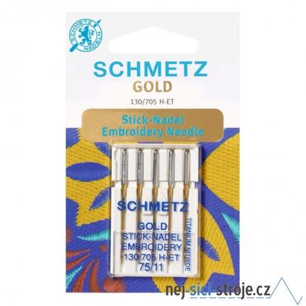 Jehly pro šicí stroje - VYŠÍVACÍ GOLD - 5x75