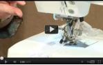video návod ukázka Příslušenství Janome - Patka na nabírání látky - ruffler (pro 6600 a 7700)