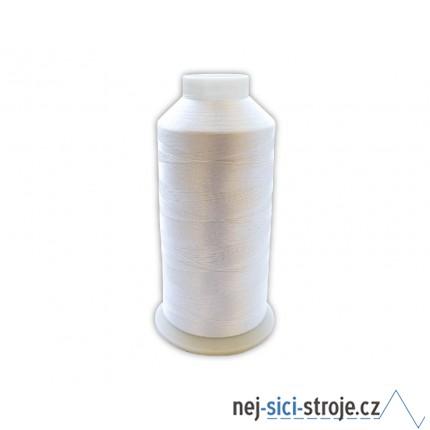 Vyšívací nit bílá - 1ks velký kón ( 5000m )