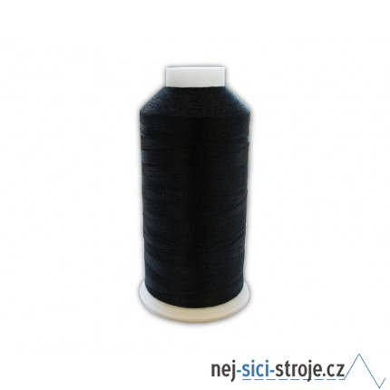 Vyšívací nit  černá - 1ks velký kón ( 5000m )