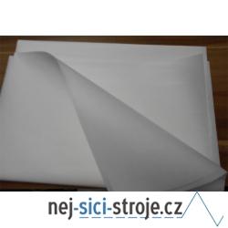Nažehlovací trhací materiál - bílý 1m x 1m