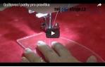 video návod ukázka Quiltovací pravítko tvar pero 4 inch  NP5-P02-4 (5 mm)