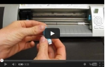 video návod ukázka Příslušenství pro plotry - Řezací nůž na  TEXTIL