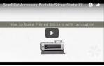 video návod ukázka Příslušenství pro plotry - Potisknutelné nálepky starter kit ScanNCut