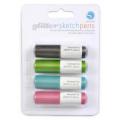 Příslušenství pro plotry - sketch pen 4ks třpytivé barvy