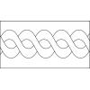Quiltovací pravítko bordura provaz NP-A05