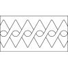 Quiltovací pravítko bordura uzly NP-A06
