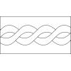 Quiltovací pravítko bordura provaz NP-A07