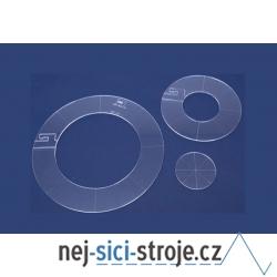 Quiltovací pravítka kruhy 3ks NP-K1