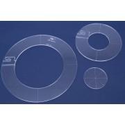 Quiltovací pravítka kruhy 3 ks NP-K2
