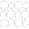 Quiltovací pravítko kruhy NP5-K6 (5 mm)