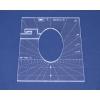 Quiltovací pravítko tvar elipsa 3 inch  NP-P01-3
