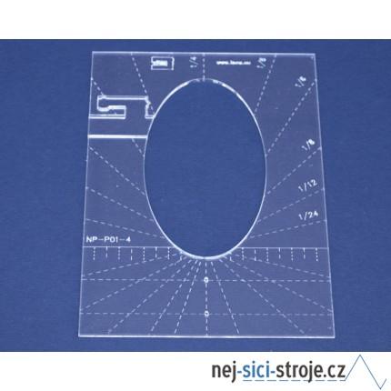 Quiltovací pravítko tvar elipsa 4 inch NP-P01-4