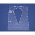 Quiltovací pravítko tvar kapka 4 inch NP-P05-4