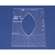 Quiltovací pravítko tvar list 4 inch NP-P06-4