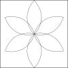 Quiltovací pravítko tvar list 3 inch NP-P06-3