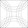 Sada quiltovacích pravítek oblouk - 3 ks