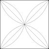 Quiltovací pravítko oblouk NP-R06