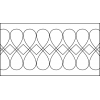 Quiltovací pravítko bordura srdíčka NP-S4