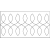 Quiltovací pravítko bordura smyčky NP5-U72 (5 mm)
