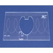 Quiltovací pravítko bordura smyčky NP-U92