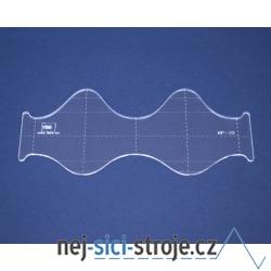 Quiltovací pravítko vlnky NP-V2