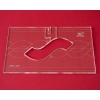 Quiltovací pravítko bordura provaz NP5-A07 (5 mm)