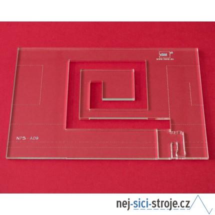 Quiltovací pravítko bordura Egypt NP5-A09 (5 mm)