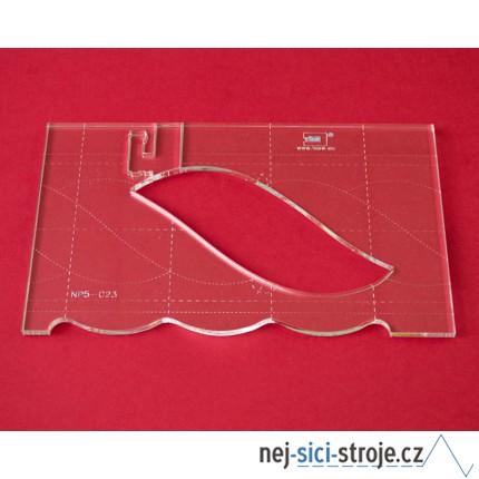 Quiltovací pravítko bordura cop NP5-C23 (5 mm)