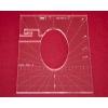 Quiltovací pravítko tvar elipsa 3 inch  NP5-P01-3 (5 mm)