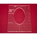 Quiltovací pravítko tvar elipsa 4 inch NP5-P01-4 (5 mm)