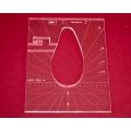 Quiltovací pravítko tvar pero 4 inch  NP5-P02-4 (5 mm)